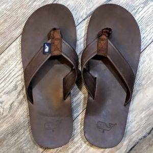 Vineyard Vines Brown Leather Sandal Mens 6.5